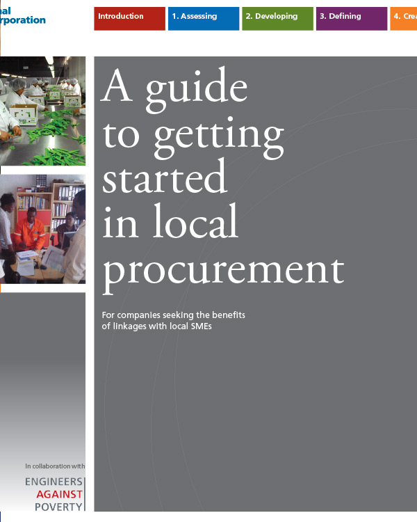 A Guide to Getting Started in Local Procurement: For companies seeking the benefits of linkages with local SMEs