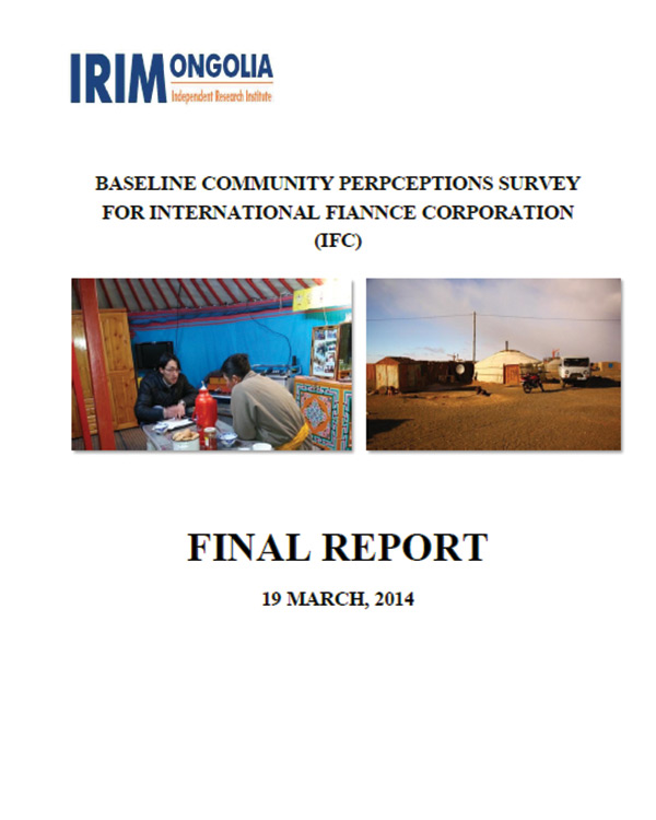 Baseline Community Perceptions Survey for International Finance Corporation – Final Report