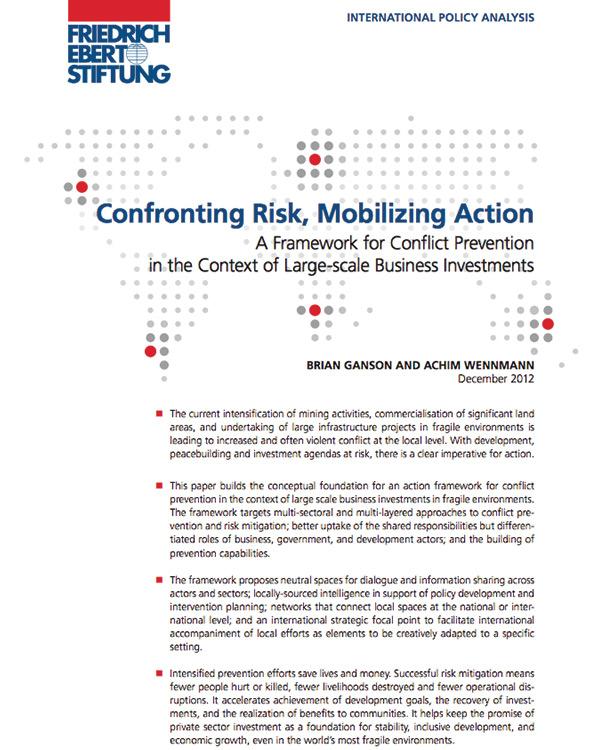 Confronting Risk, Mobilizing Action