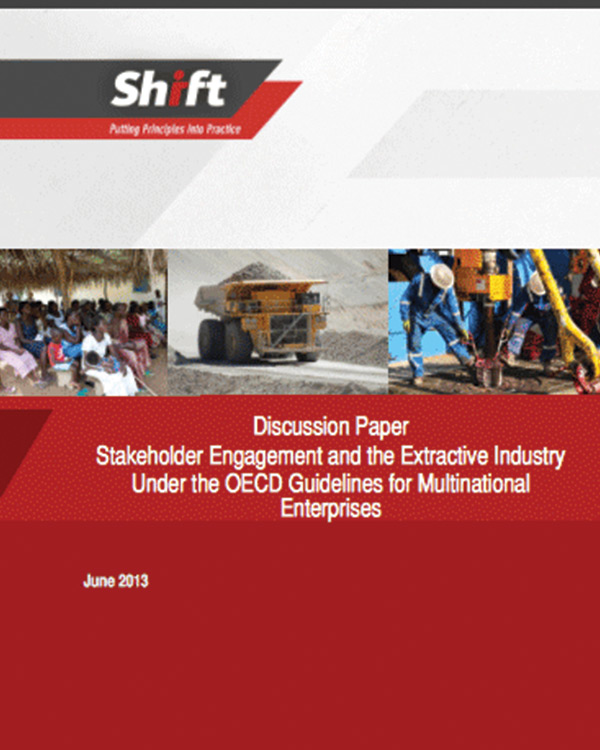 Discussion Paper: Stakeholder Engagement and the Extractive Industry Under the OECD Guidelines for Multinational Enterprises