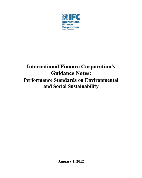 IFC Guidance Notes: Performance Standards on Environmental and Social Sustainability