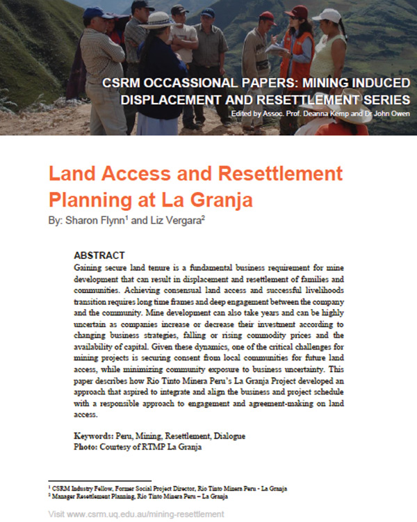 Land Access & Resettlement Planning at La Granja