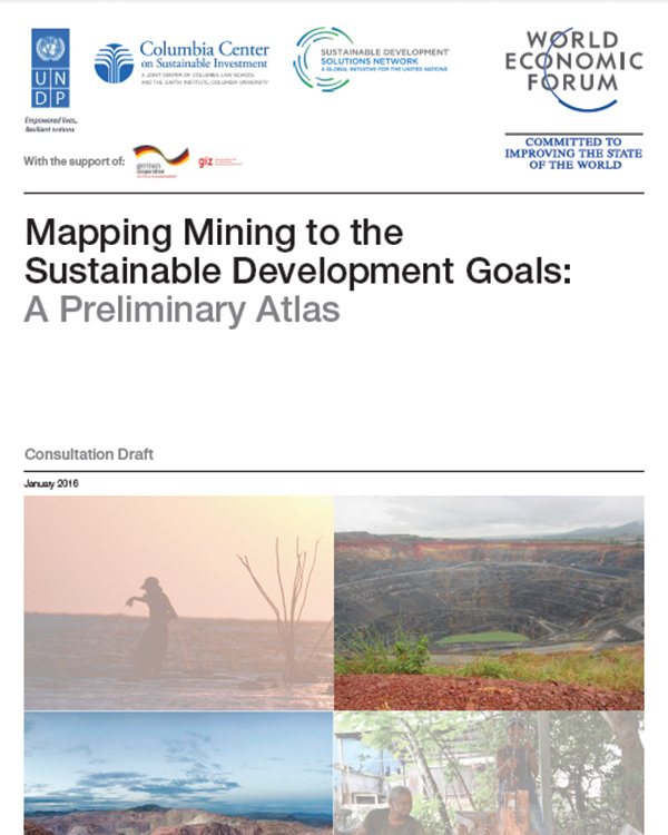 Mapping Mining to the Sustainable Development Goals: A Preliminary Atlas
