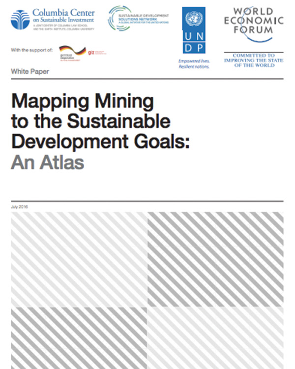 Mapping Mining to the Sustainable Development Goals: An Atlas