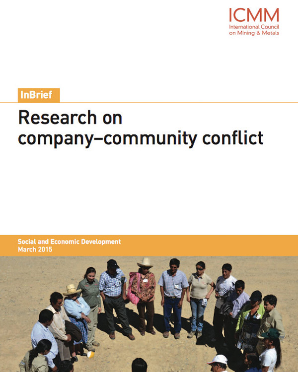 Research on company–community conflict