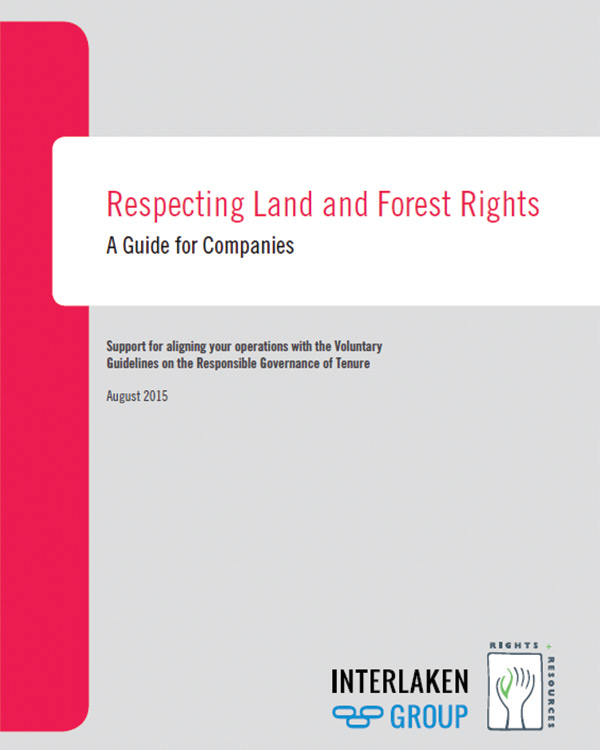 Respecting Land and Forest Rights – A Guide for Companies