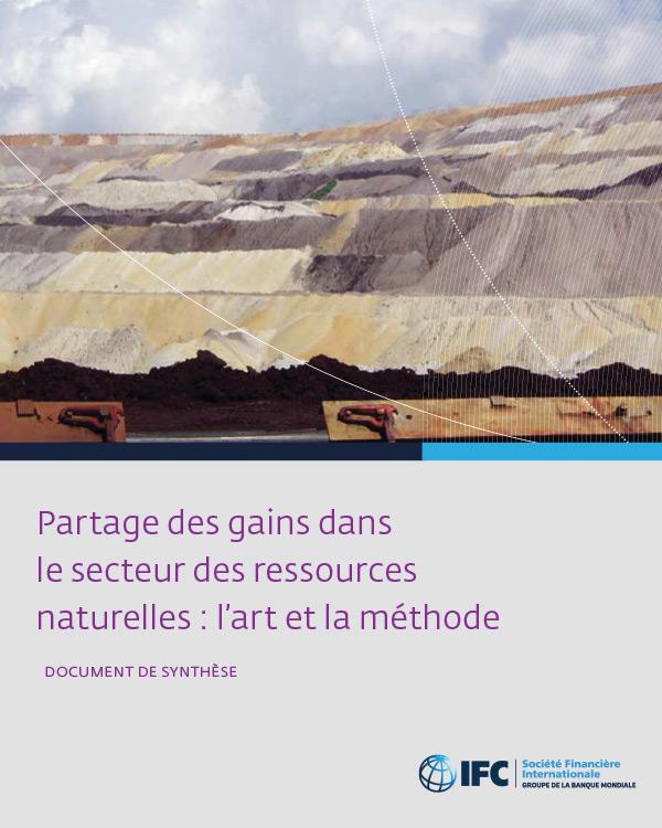 [French version] Partage des gains dans le secteur des ressources naturelles