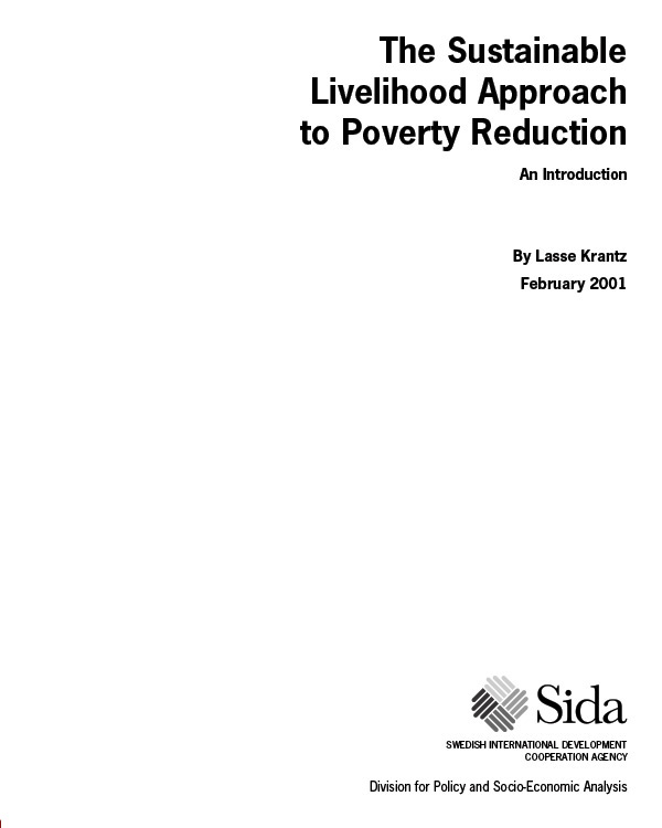 The Sustainable Livelihood Approach to Poverty Reduction, SIDA