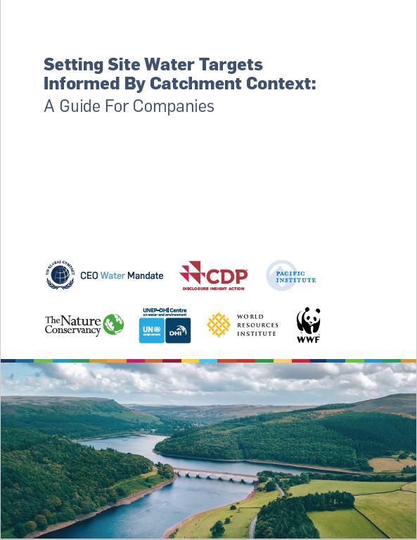 Setting Site Water Targets Informed By Catchment Context: A Guide For Companies