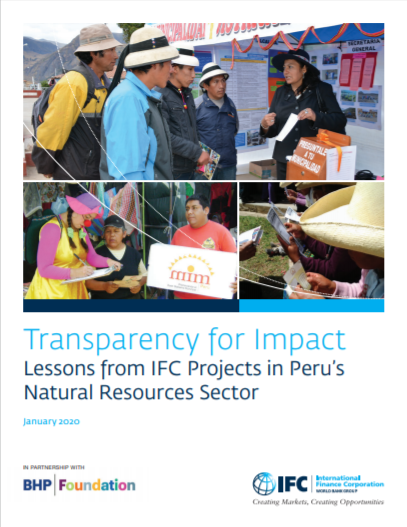 Transparency for Impact: Lessons from IFC Projects in Peru's Natural Resources Sector