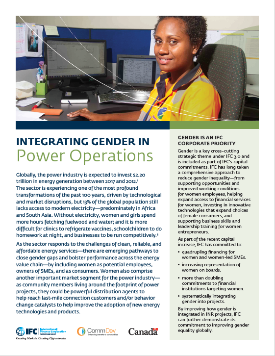 Integrating Gender in Power Operations