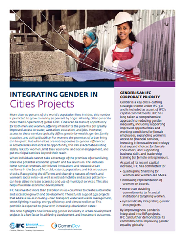 Integrating Gender in Cities Projects