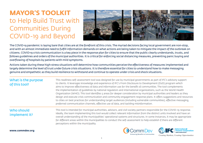 Mayor's Toolkit to Help Build Trust with Communities During COVID-19 and Beyond