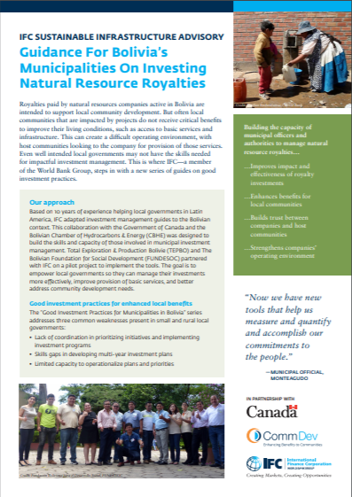 [English Version] Highlights: Guidance For Bolivia's Municipalities On Investing Natural Resource Royalties