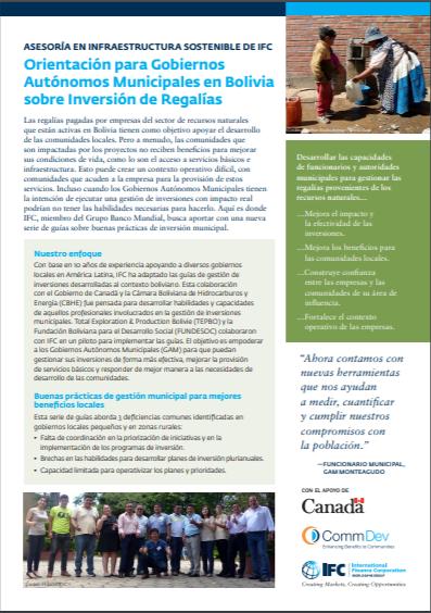 [Spanish Version] Aspectos Clave: Orientación para Gobiernos Autónomos Municipales en Bolivia sobre Inversión de Regalías
