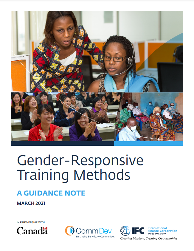 Gender-Responsive Training Methods: A Guidance Note